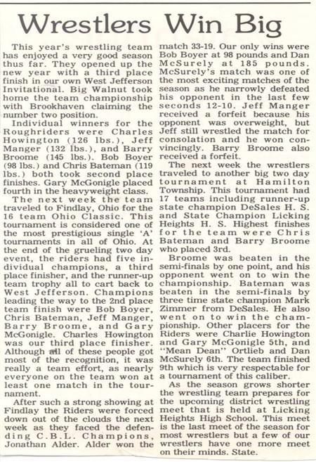 1977 Team Article