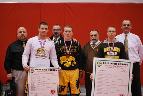 2013 State Placers and coaches