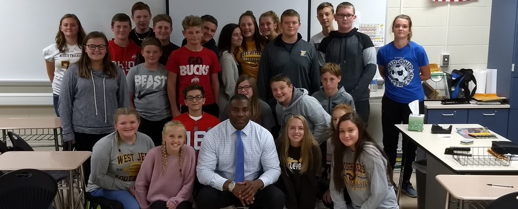 8th Grade Class with 9/11 Speaker