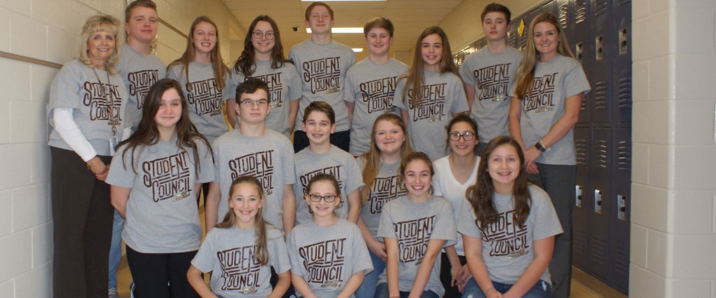 Middle School Student Council Group Shot