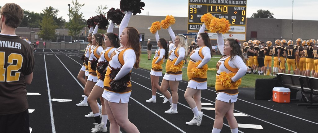 Cheerleaders at the game