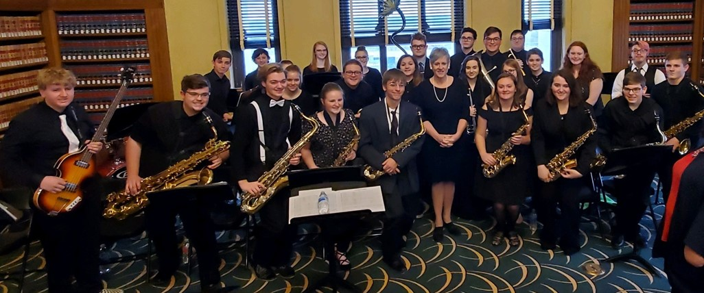 High School Jazz Band with Chief Justice of Ohio Supreme Court