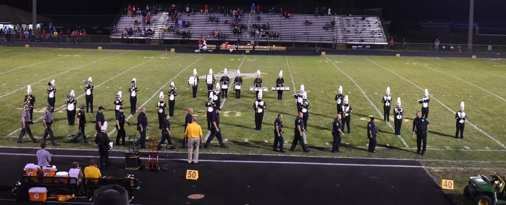 High School band performing