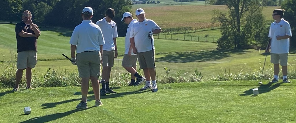 Golf team on the course