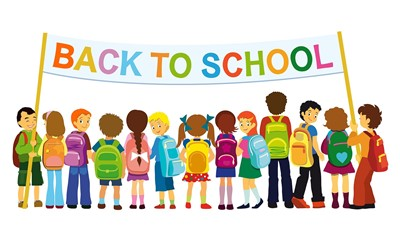 Back to school image of kids